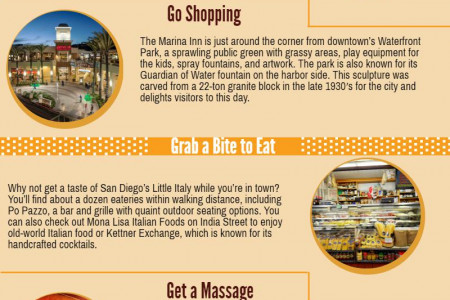 5 Fun Activities Walking Distance from the Marina Inn Infographic