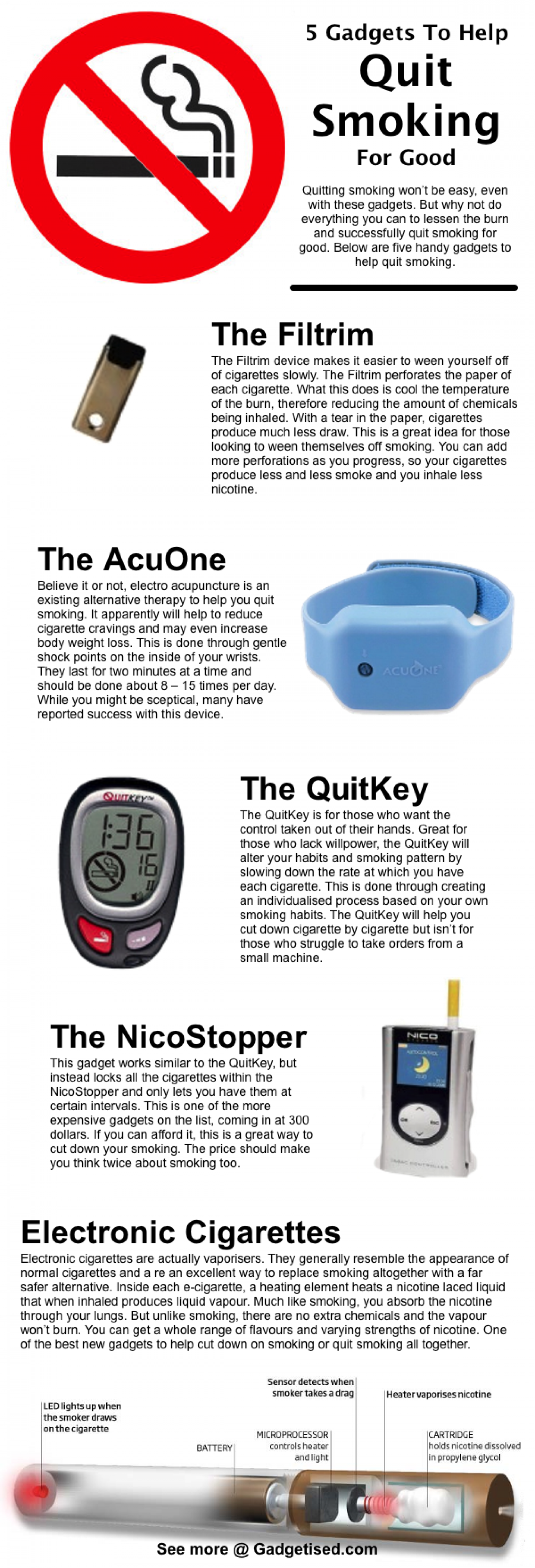 5 Gadgets To Help You Quit Smoking For Good Infographic