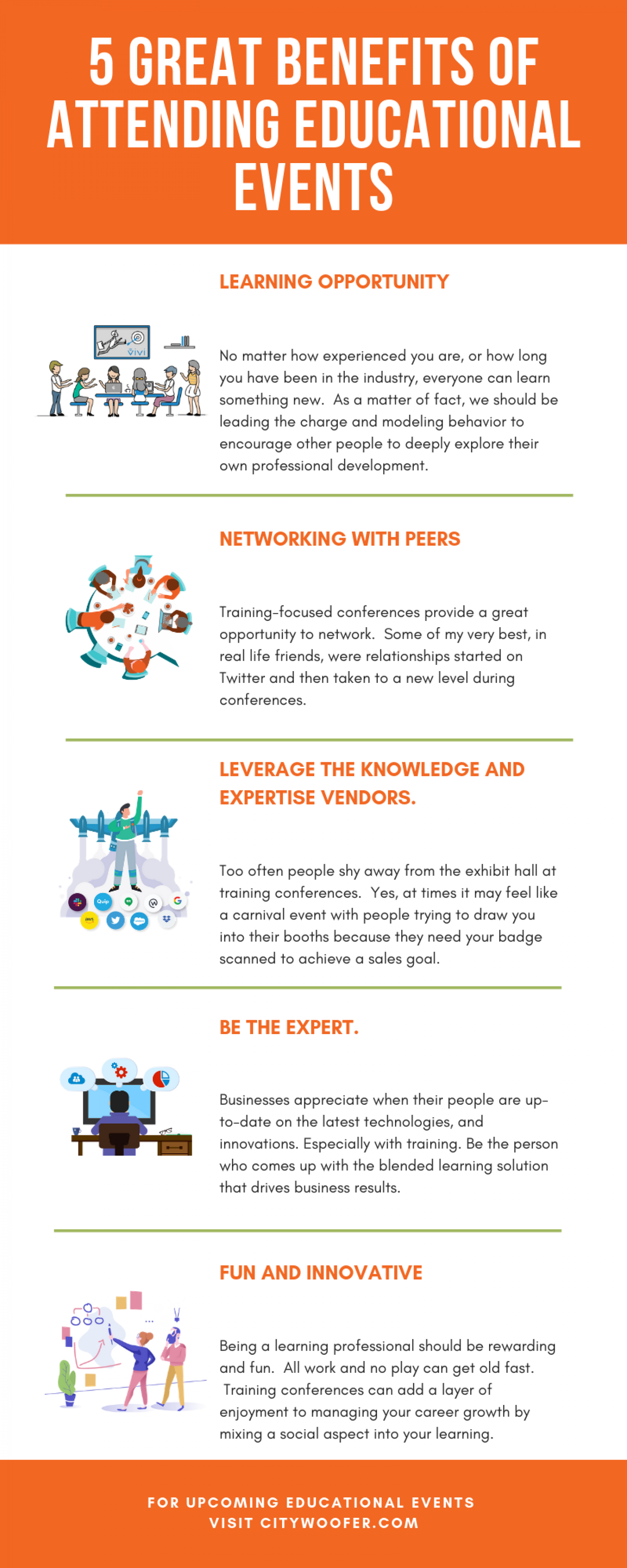 5 Great Benefits of Attending Educational Conference Infographic