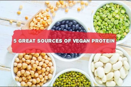 5 Great Sources of Vegan Protein Infographic