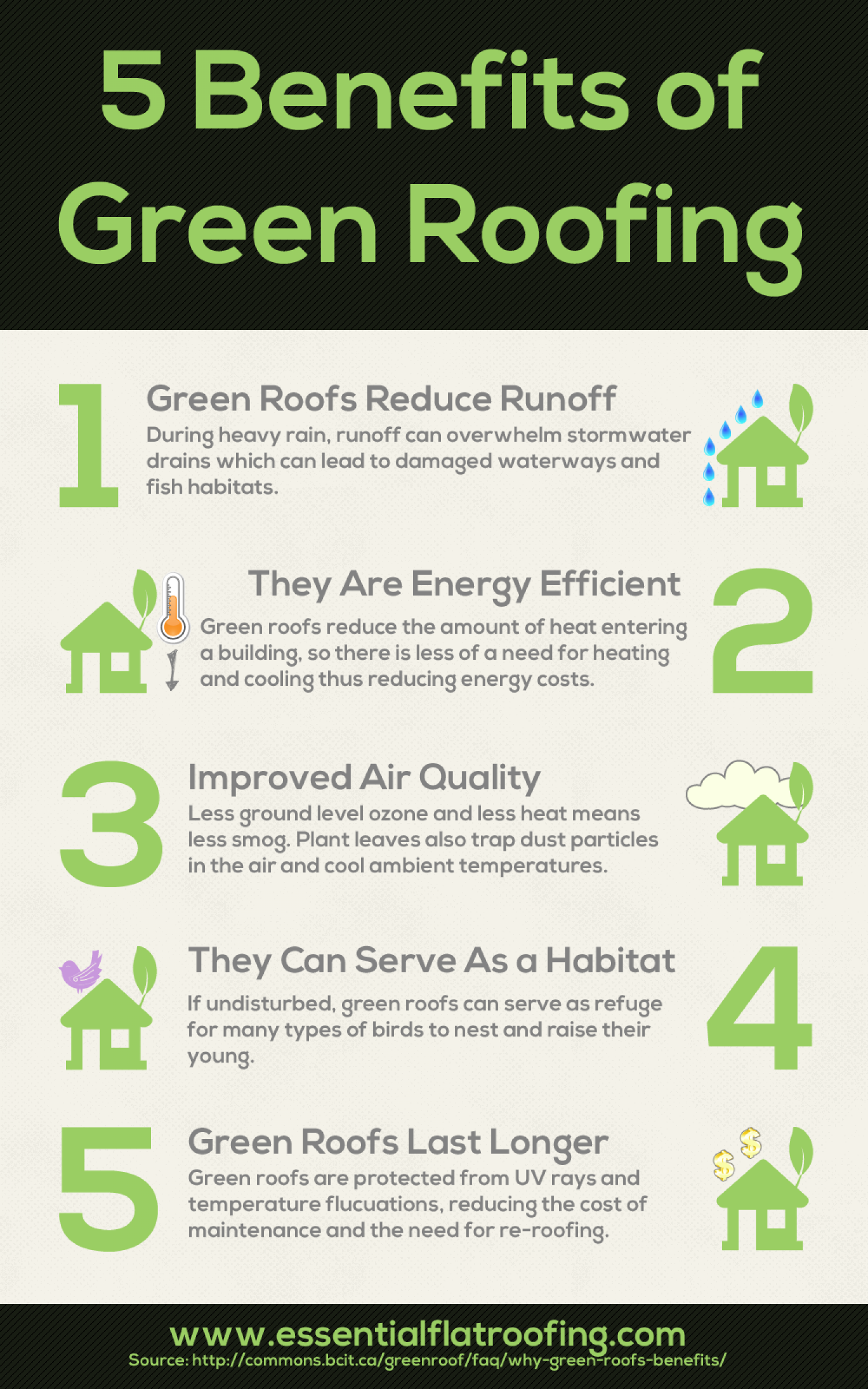 5 green roofing benefits