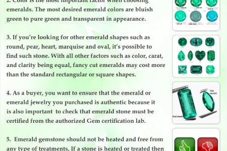 5 Important Factors When Buying Emerald Gemstone Infographic