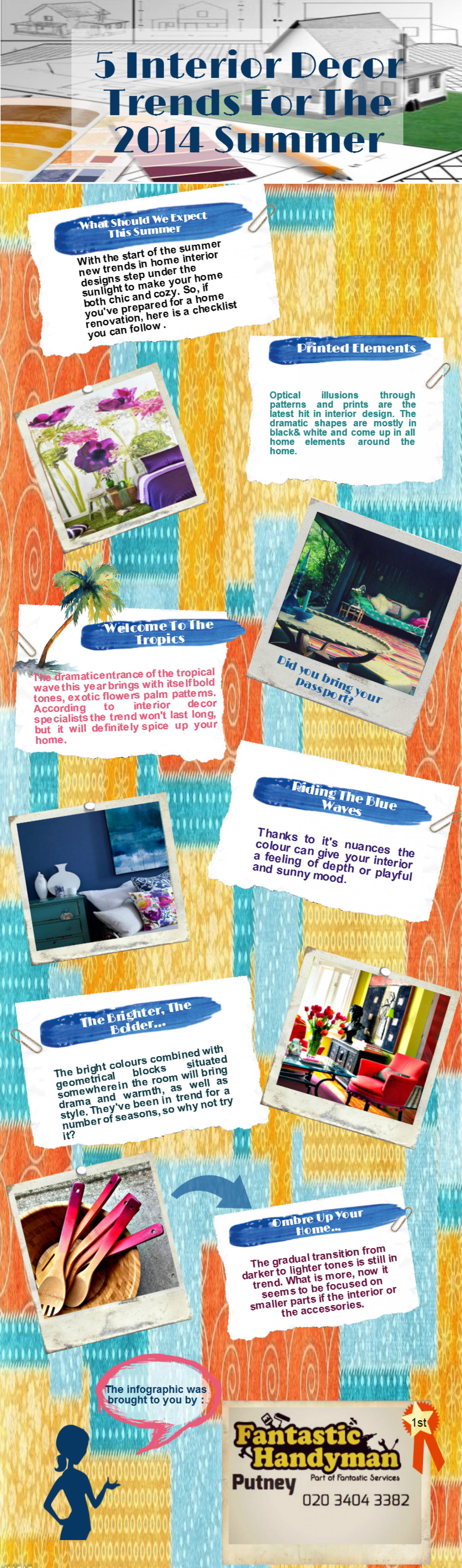 5 interior decor trends for the 2014 summer for Interior trends 2014