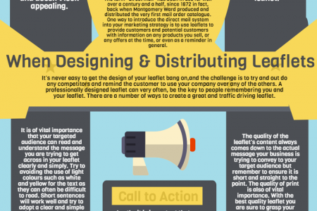 5 key points to bear in mind when designing a leaflet. Infographic