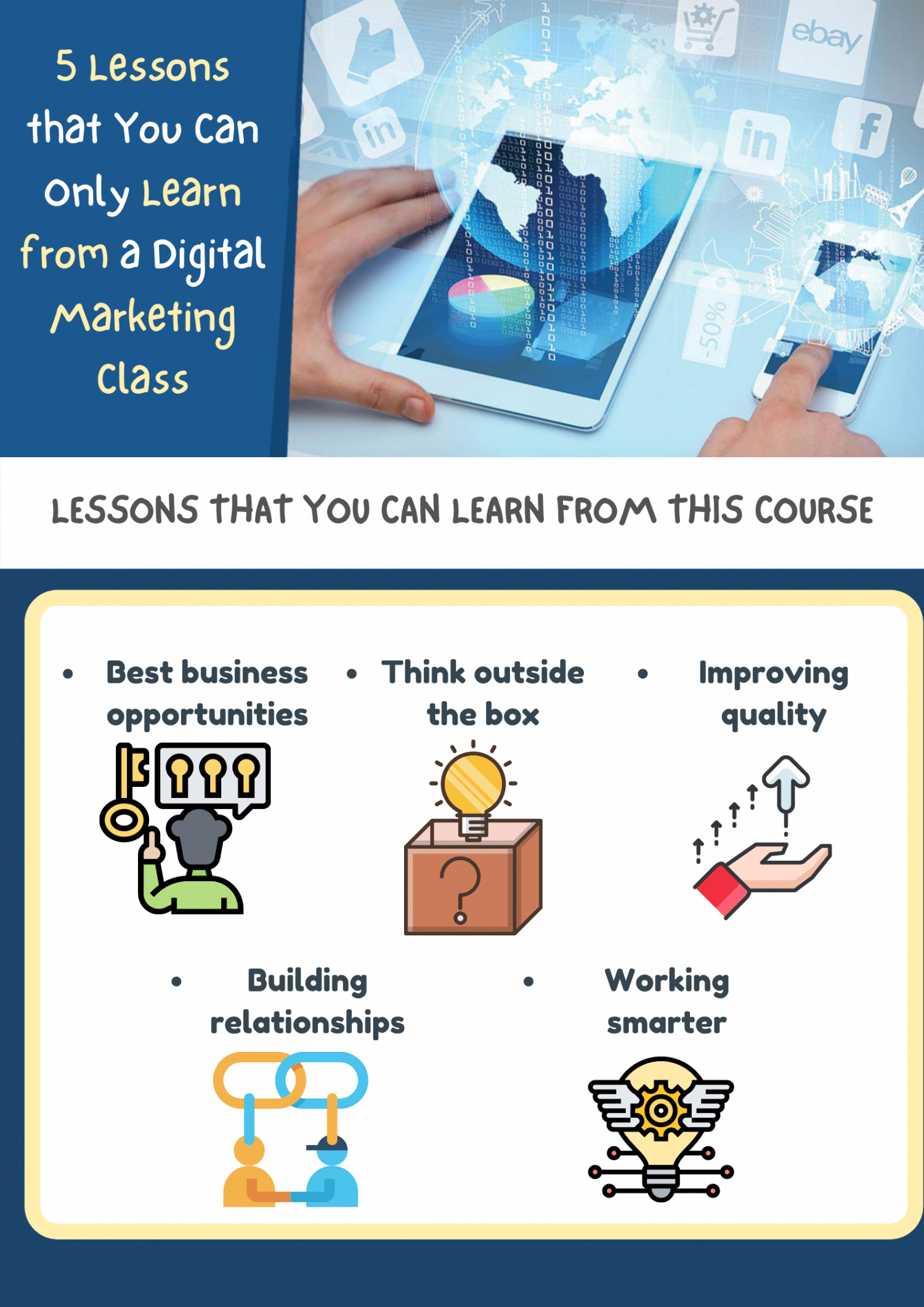 5 Lessons that You Can Only Learn from a Digital Marketing Class Infographic