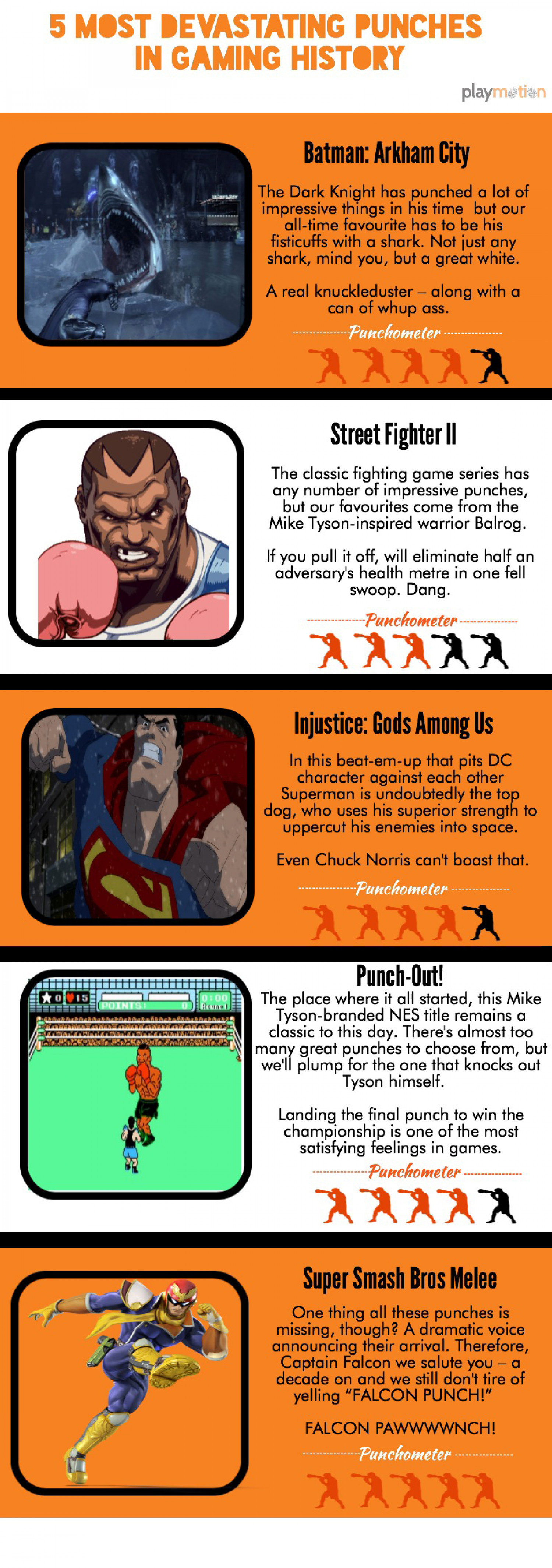 5 most devastating punches in the gaming industry Infographic