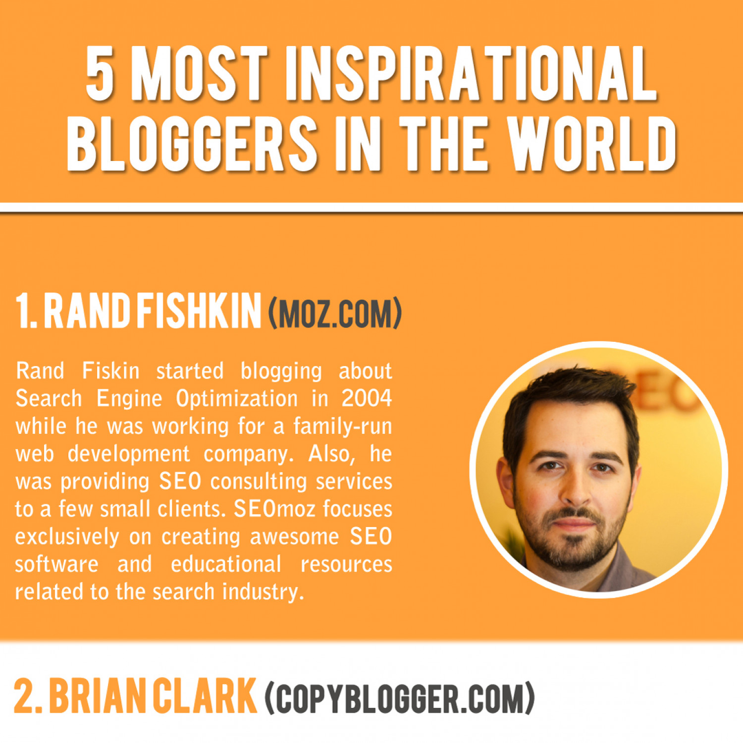 5 Most Inspirational Bloggers In The World  Infographic
