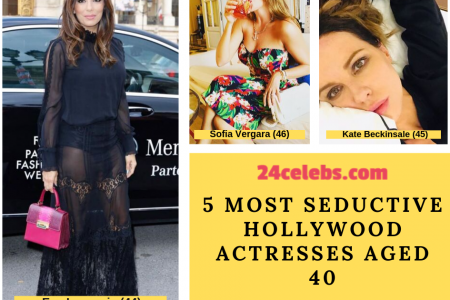 5 Most Seductive Hollywood Actresses Aged 40 Infographic