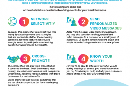 5 Networking Tips for Small Business Infographic