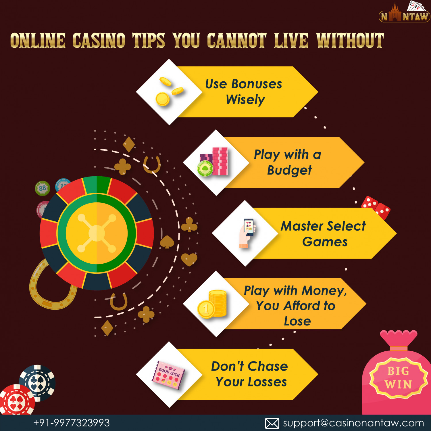 5 Online Casino Tips You Cannot Live Without Infographic