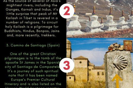 5 places to travel the world's great spiritual sites. Infographic