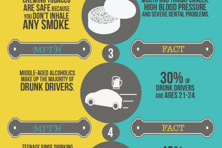 5 Popular Myths About Drugs and Alcohol Infographic