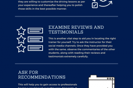 5 Quality Points for choosing the Right Driving Instructor Infographic