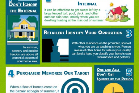 5 Real Estate Tips for summer's Period  Infographic