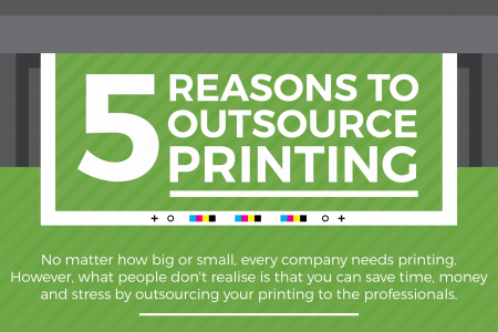 5 Reasons to Outsource Printing Infographic