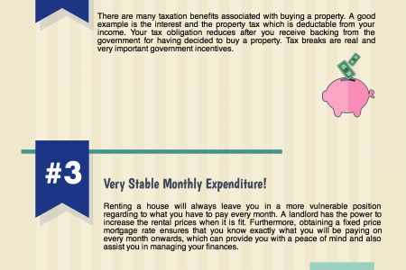 5 Reasons Why Buying A Property is a Better Option Over Renting! Infographic