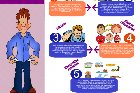 5 Reasons Why People Go Bankrupt  Infographic
