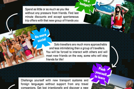 5 Reasons Why You Should Go Solo Travelling Infographic