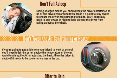 5 Rules to Remember When Riding in the Passenger Seat Infographic