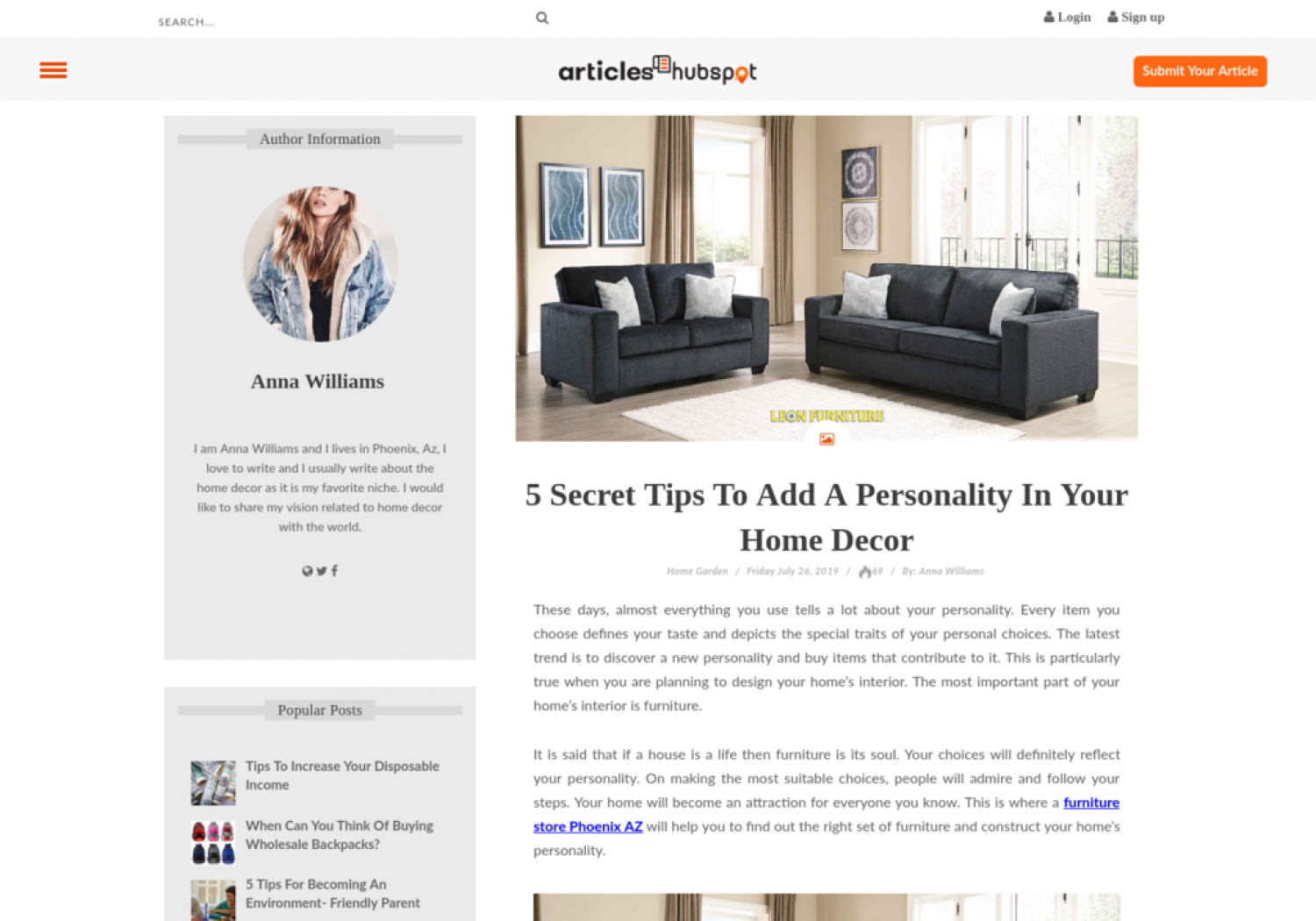 5 Secret Tips To Add A Personality In Your Home Decor Infographic