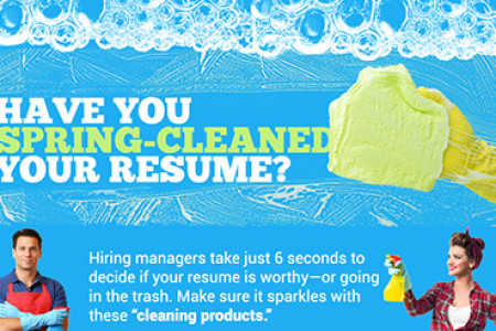 5 signs your resume needs spring cleaning Infographic