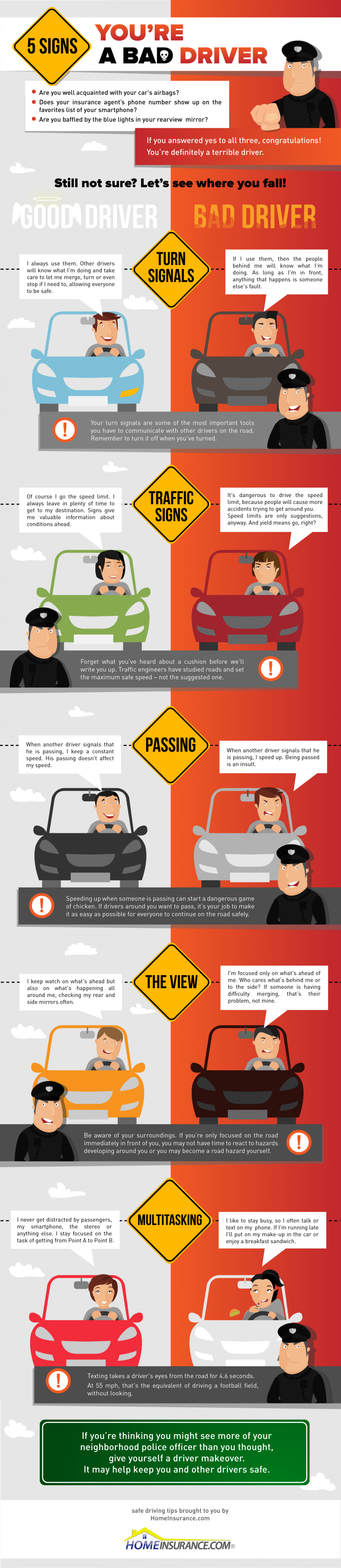 5 Signs You're a Bad Driver Infographic
