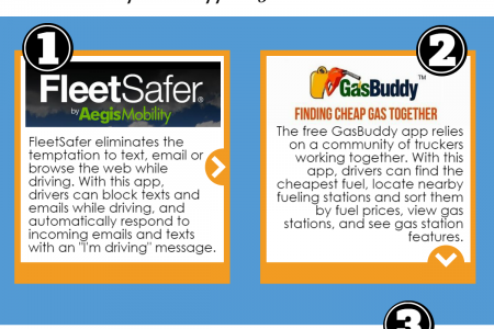 5 smartphone apps for new truckers Infographic