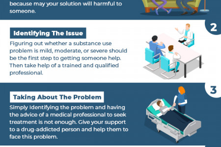 5 Steps To Help A Drug Addict By Volunteer Work Infographic