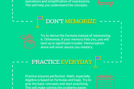 5 Study Hacks to Get Better Grades in Algebra Infographic