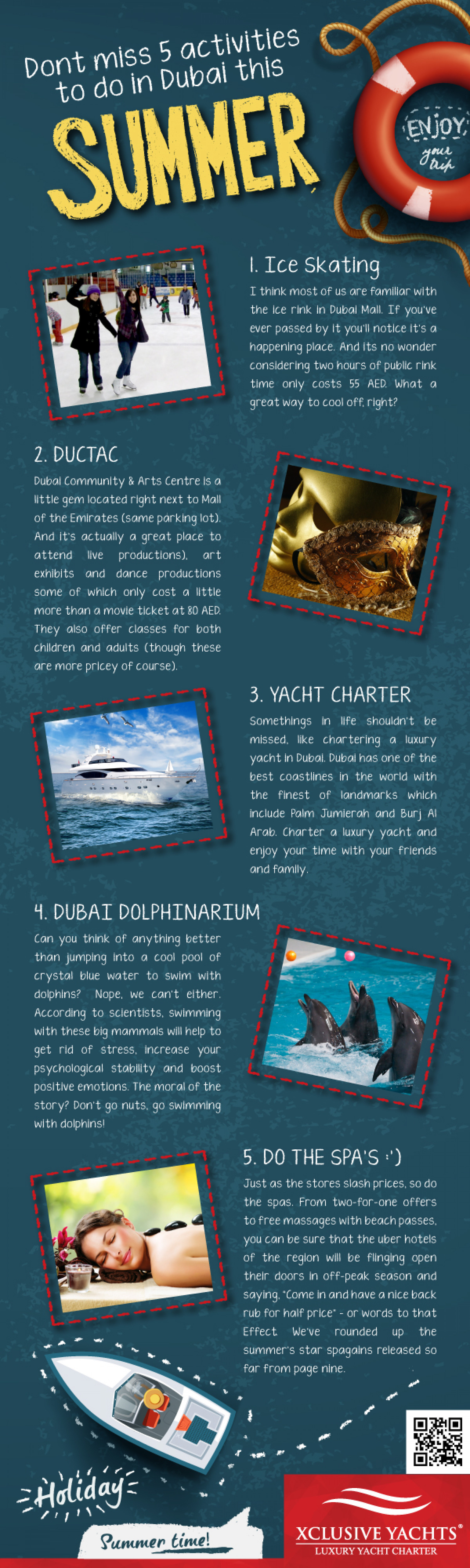 Dont Miss 5 Activities To Do In Dubai This Summer Infographic