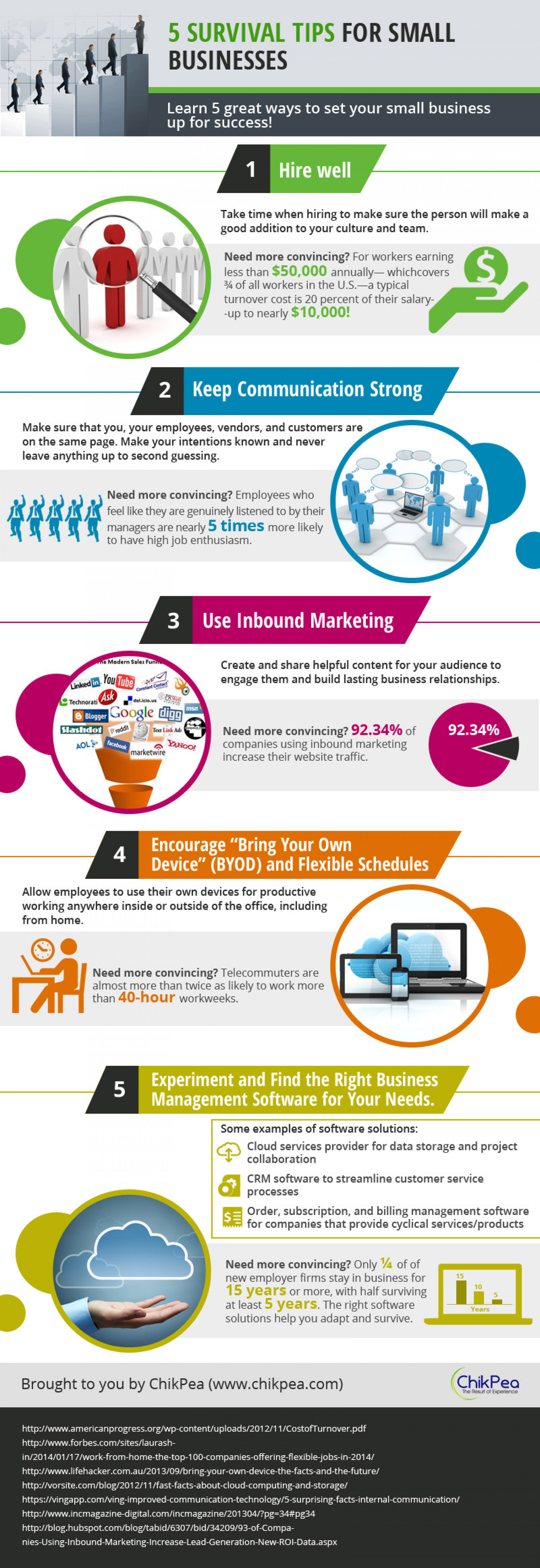 5 Survival Tips For Small Businesses Infographic