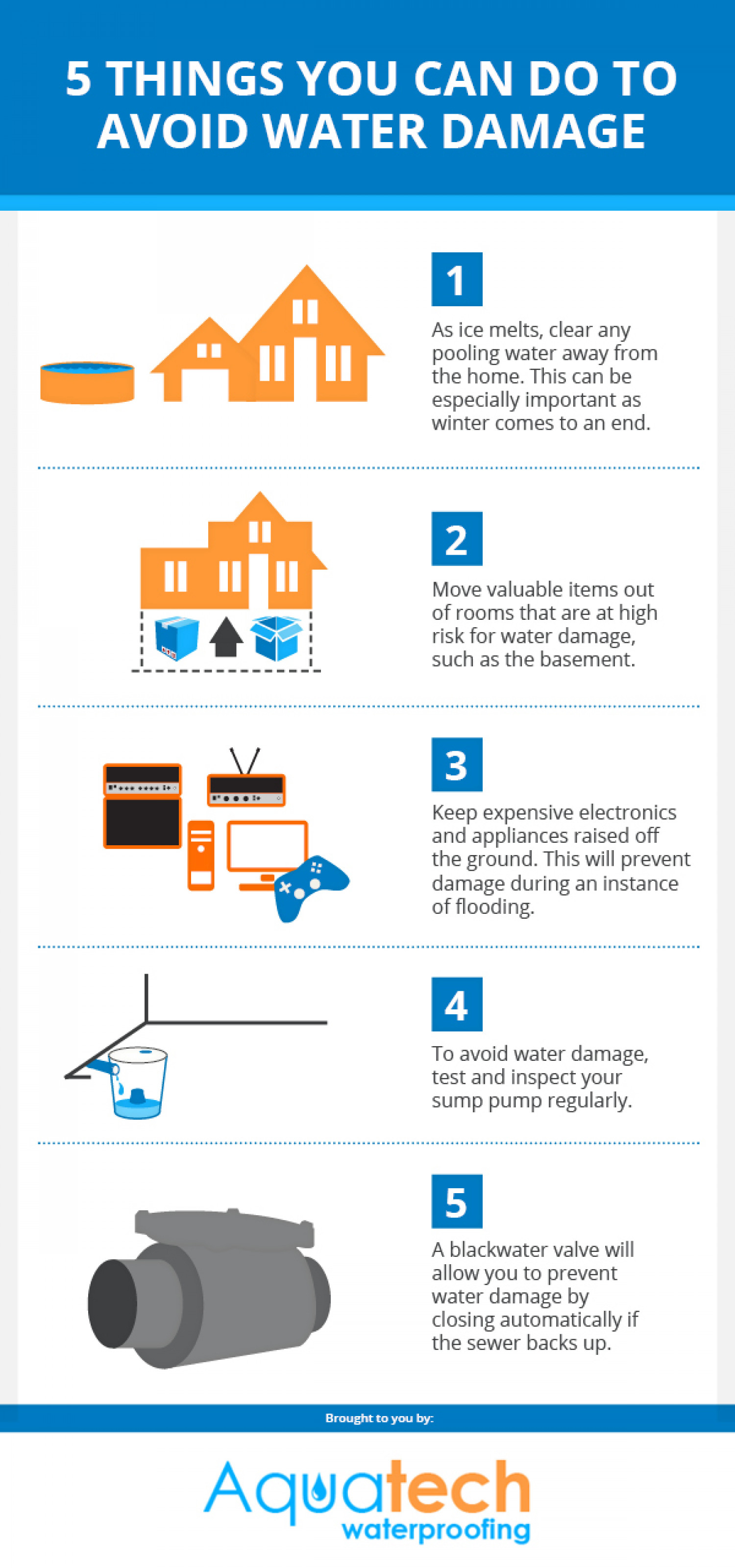 5 Things You Can Do To Avoid Water Damage Infographic