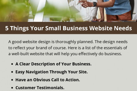 5 Things Your Small Business Website Needs Infographic