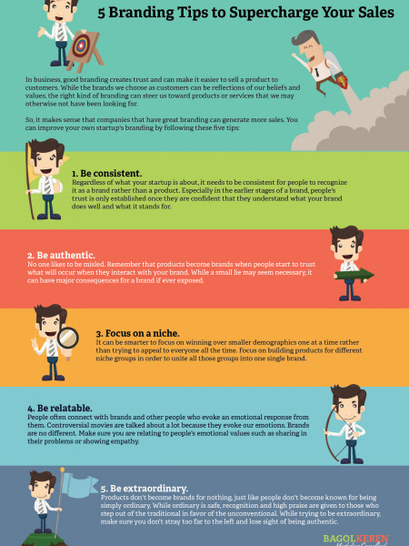 5 Branding Tips to Supercharge Your Sales Infographic
