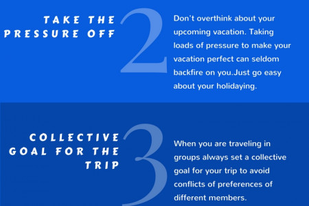 5 Tips For A Stress-Free Vacation Infographic