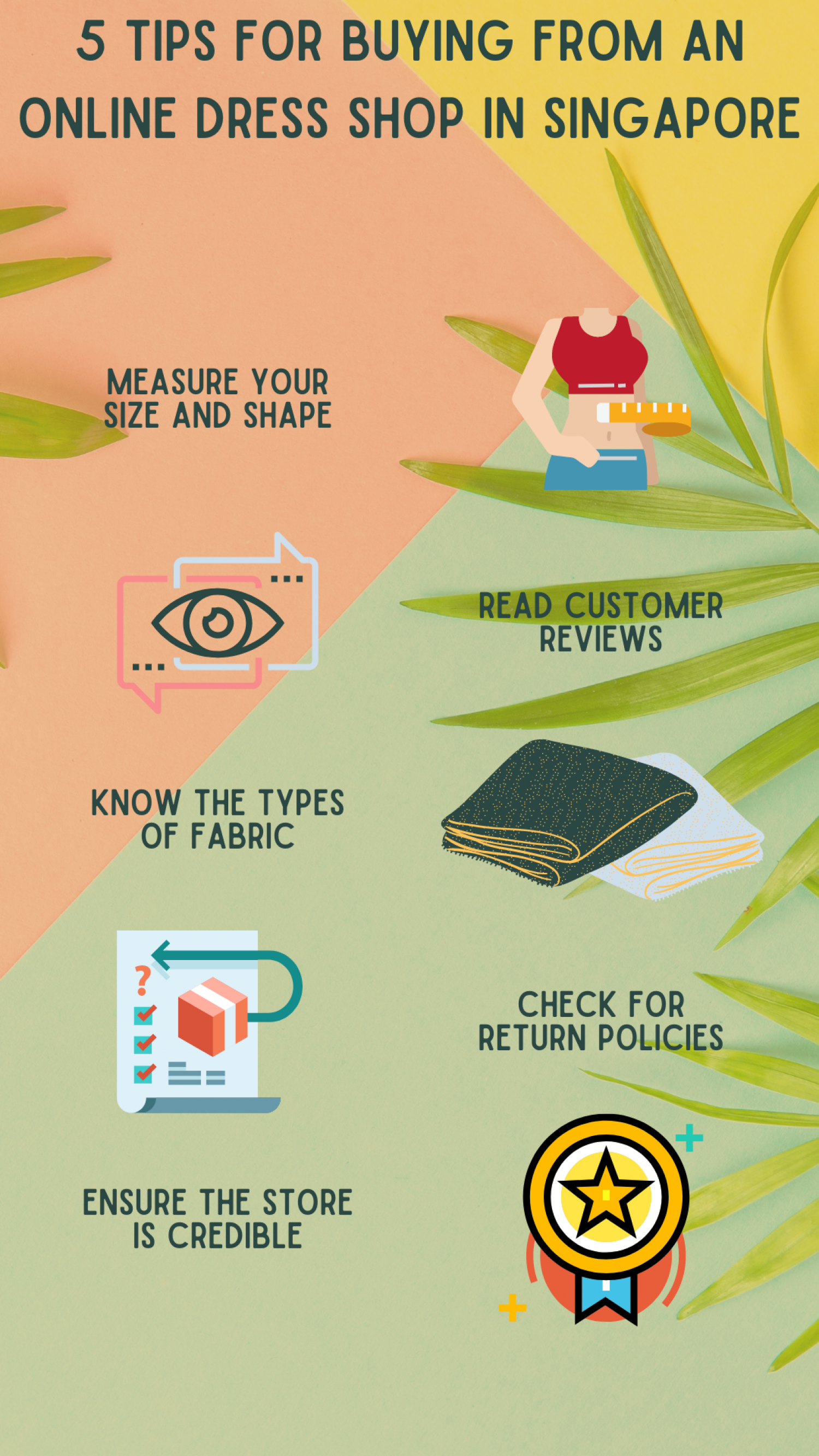 5 Tips For Buying From An Online Dress Shop In Singapore Infographic