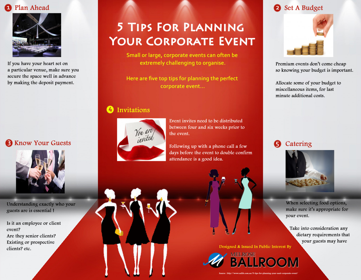 5 Tips For Planning Your Corporate Event Infographic