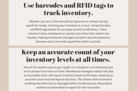 5 Tips On Effective Warehouse Inventory Management Infographic