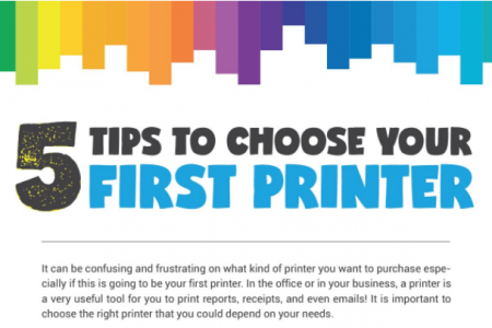5 Tips to Choose your First Printer (Infographic) - Tips from Panda Paper Roll Infographic