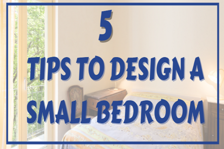 5 Tips to Design a Small Bedroom Infographic