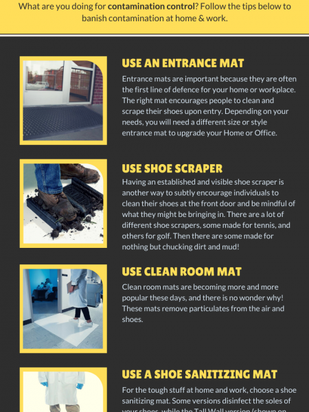 5 Tips to Eliminate Contamination at Home & Work Infographic