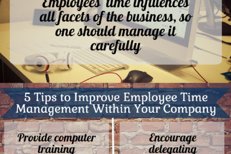 5 Tips to Help you Improve Employee Time Management Infographic