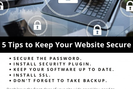 5 Tips to Keep Your Website Secure Infographic