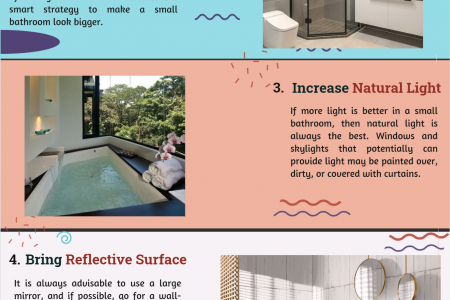 5 Tips To make Small Bathroom Look Bigger Infographic