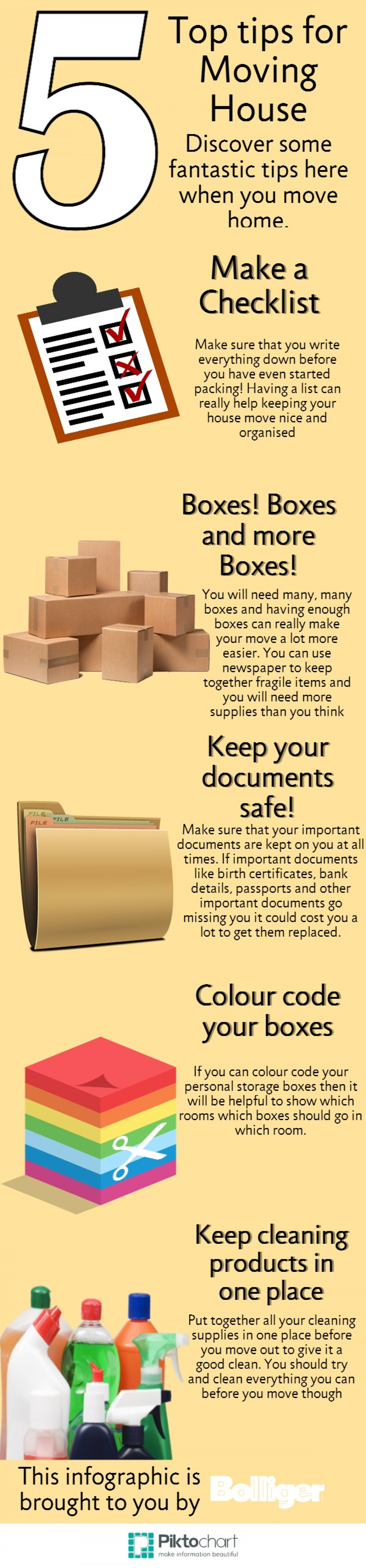 5 Top tips when moving house Infographic