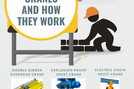 5 Types Of Cranes And How They Work Infographic
