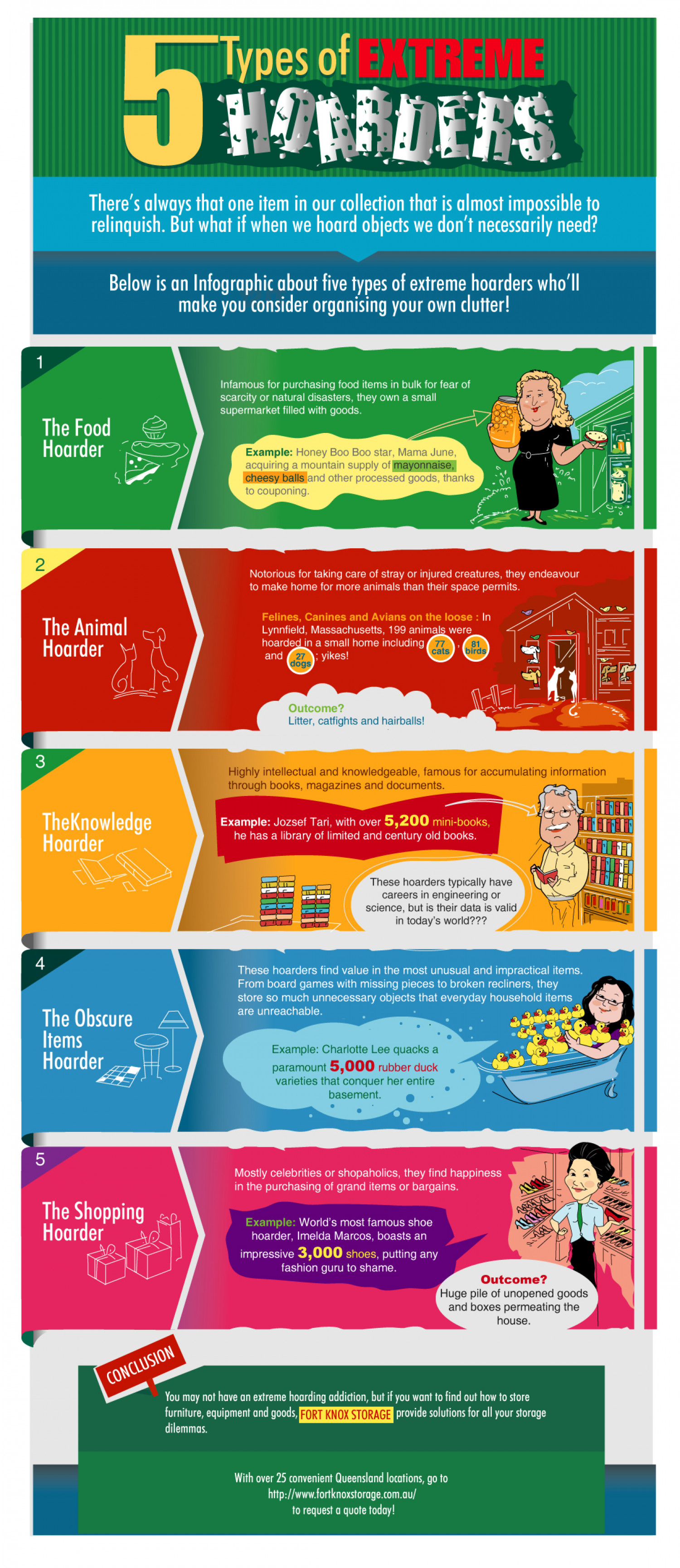 5 Types of Extreme Hoarders Infographic