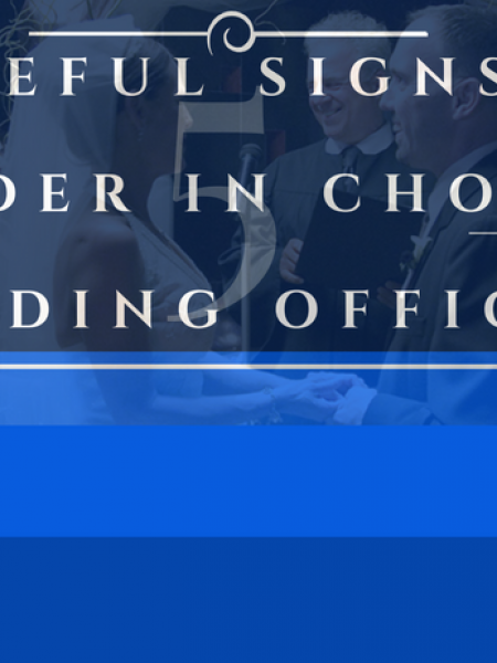 5 Useful Signs To Consider In Choosing a Wedding Officiant. Infographic