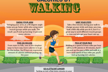 5 Ways To Burn Calories Faster Infographic