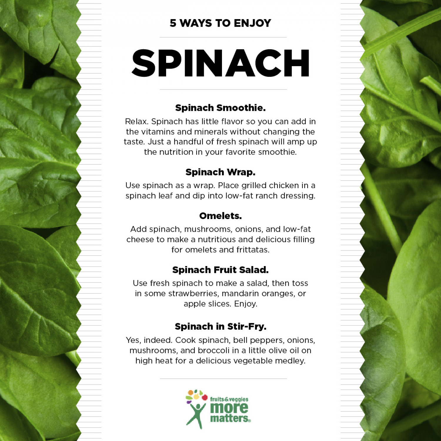 5 Ways to Enjoy Spinach Infographic